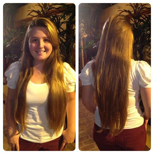 Carolina sempre gostou de cabelo longo