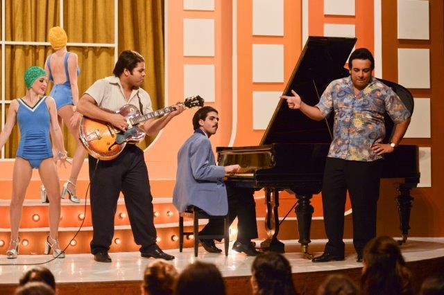 Robson Nunes como Tim Maia e Luis Lobianco como Carlos Imperial / Foto: PapricaFotografia