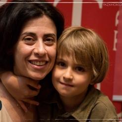 Fernanda Torres e o filho Antonio / Foto: Mayra Nolasco