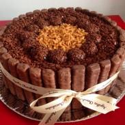 Bolo Twix / Foto: Agatha Chocolates